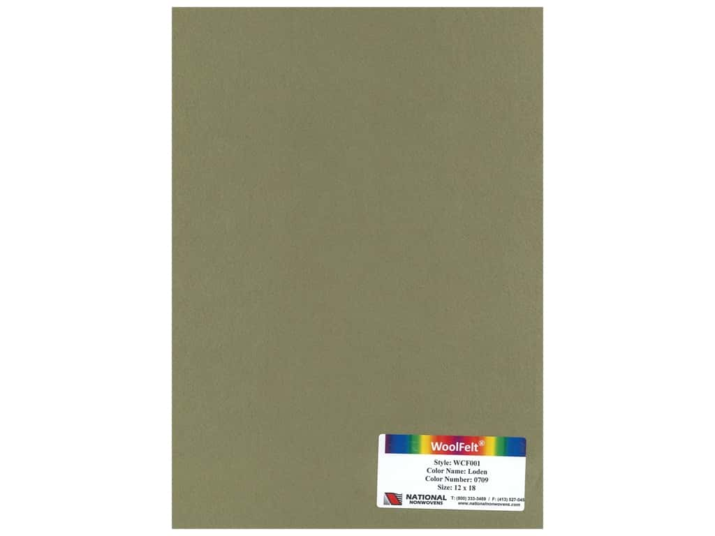 National Nonwovens 20% Wool Felt 12 x 18 in. Loden (10 sheets)