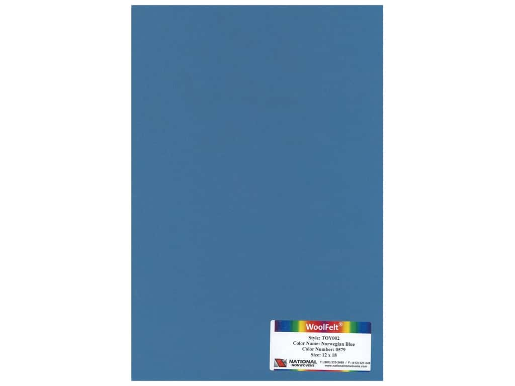 National Nonwovens 20% Wool Felt 12 x 18 in. Norwegian Blue (10 pieces)