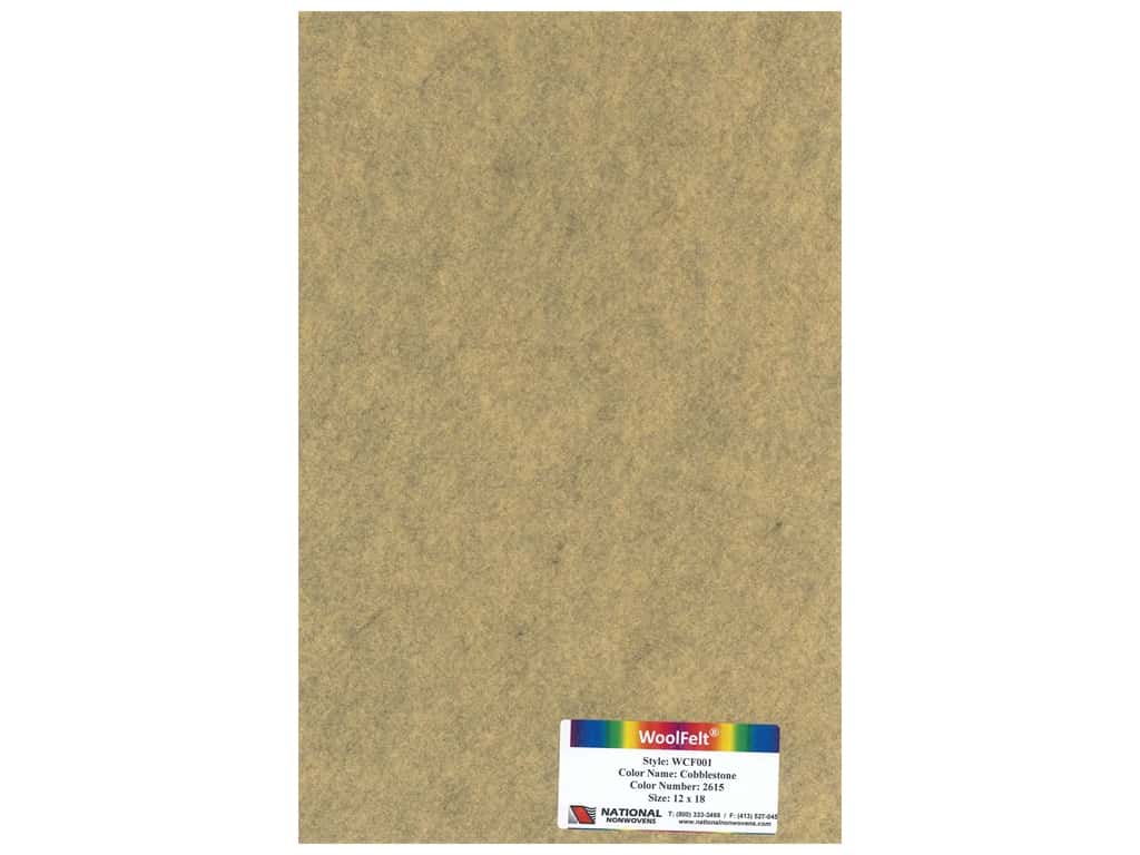 National Nonwovens 20% Wool Felt 12 x 18 in. Cobblestone (10 pieces)