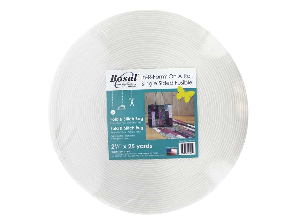Bosal Fusible Web Adhesive In R Form Single Sided Fusible 2.25  in. x 25 yd