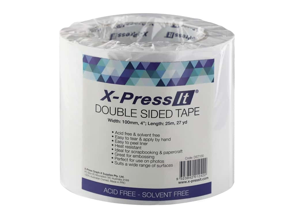 "X-Press it Double Sided Adhesive Tape 4""x 27yd"
