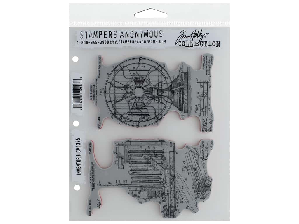Stampers Anonymous Tim Holtz Cling Mount Stamp Set - Inventor #8