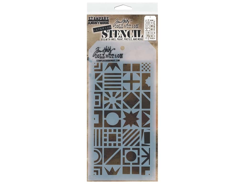 Stampers Anonymous Tim Holtz Layering Stencil - Patchwork Cube