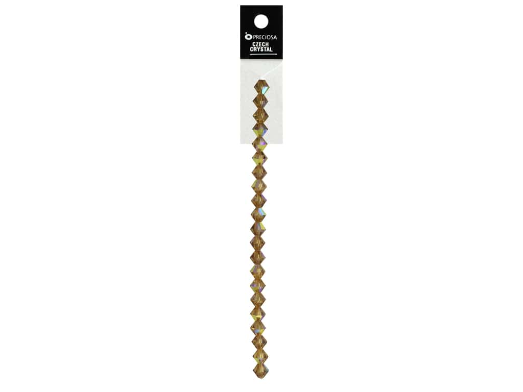 John Bead Preciosa 5 in. Strand Rondell 6 mm Colorado Topaz