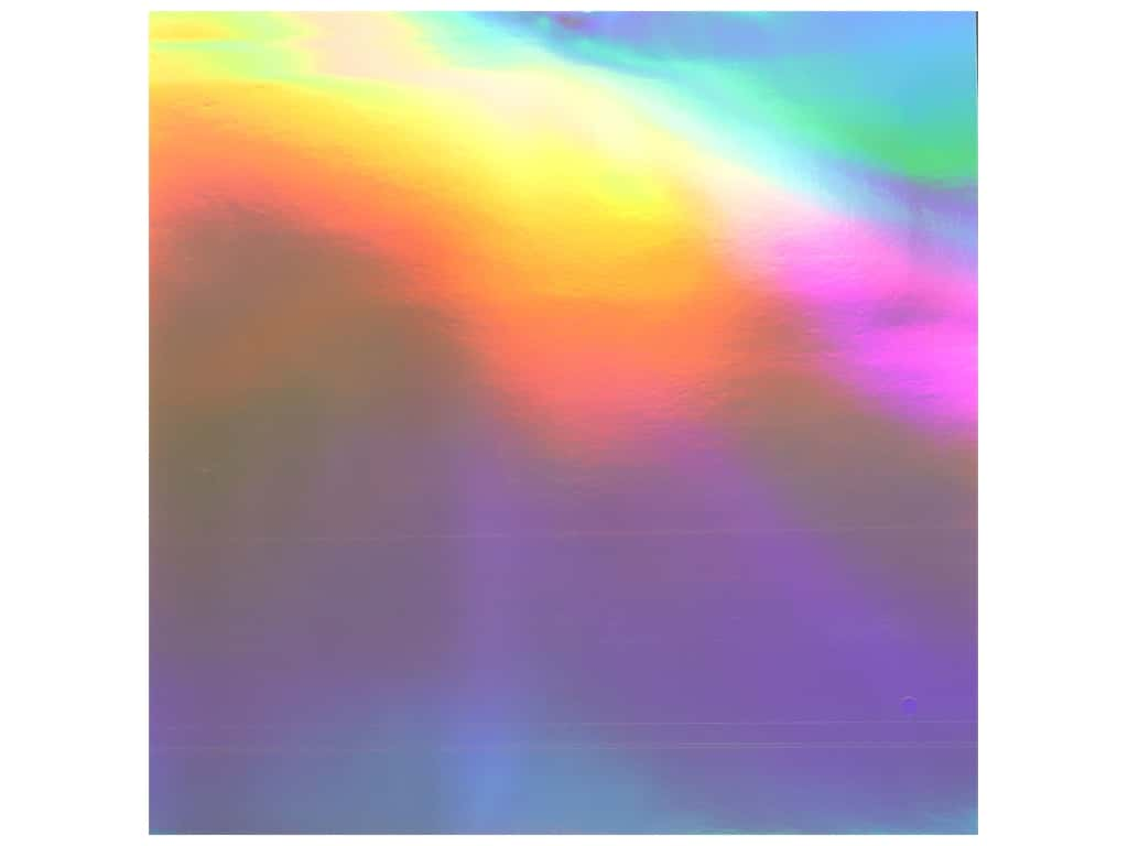 "Bazzill Cardstock 12""x 12"" Foil Holographic Rainbow (10 pieces)"