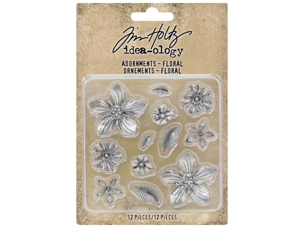 Tim Holtz Idea-ology Adornments Floral