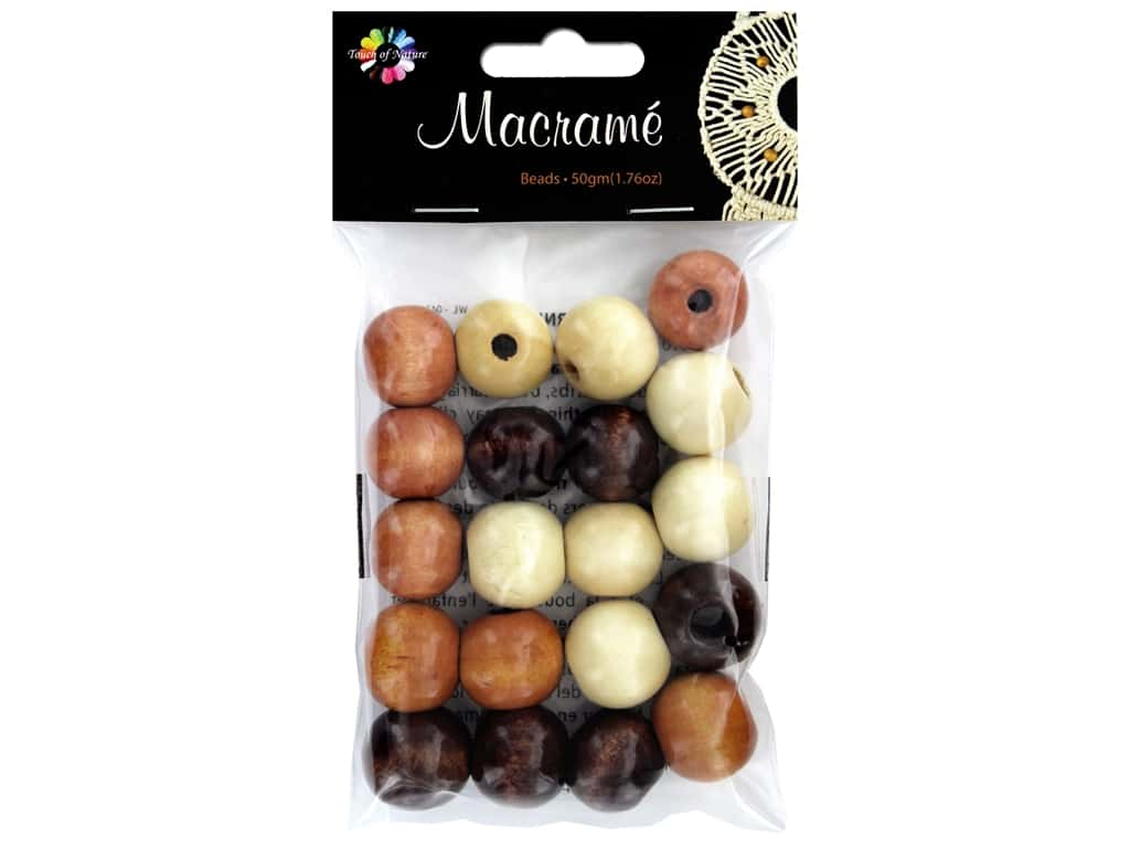 Midwest Design Embellishment Beads Macrame Mix Assorted Brown 1.76 oz