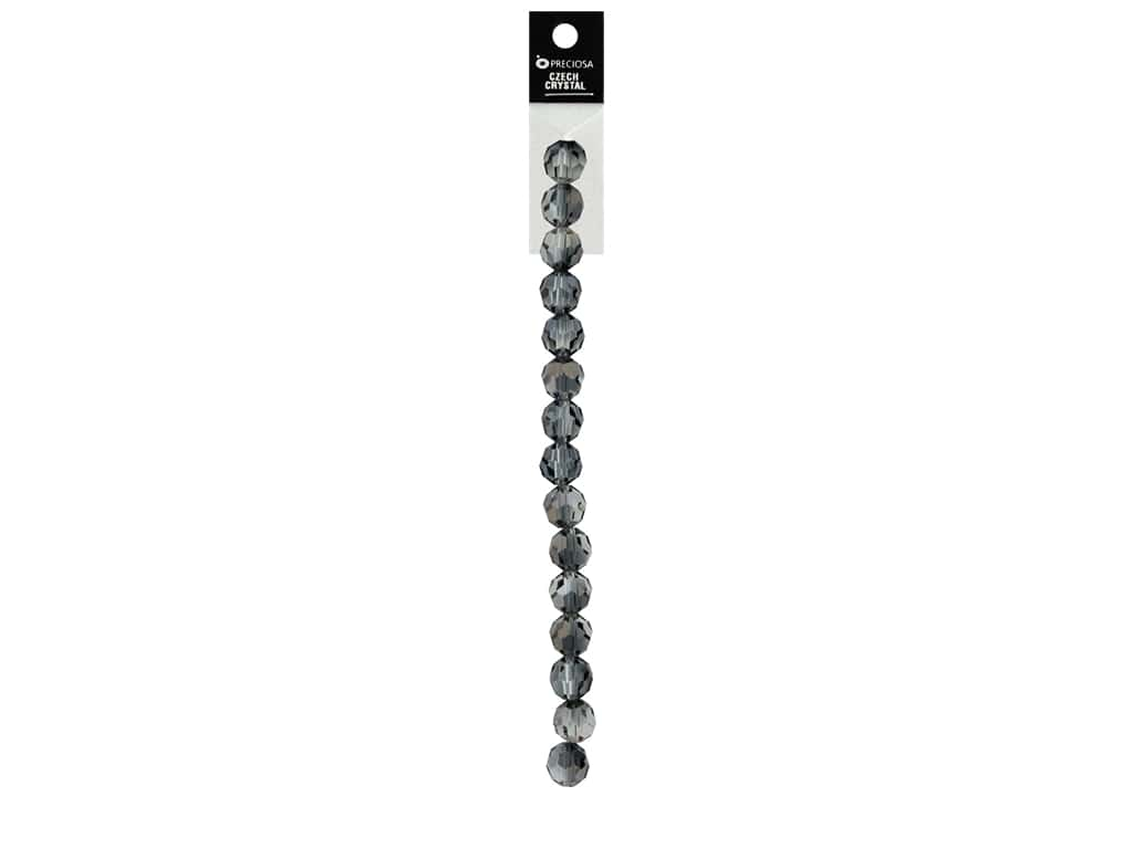 John Bead Preciosa 5 in. Strand Round 8 mm Valentinite