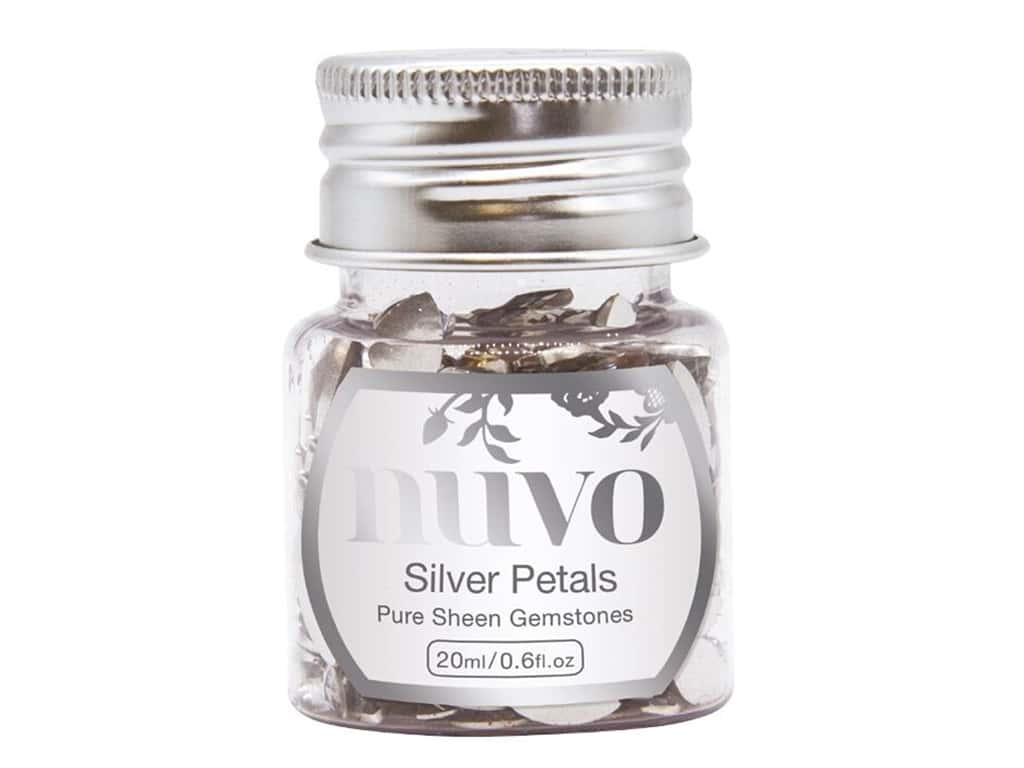 Nuvo Pure Sheen Gemstones .6 oz. Silver Petals