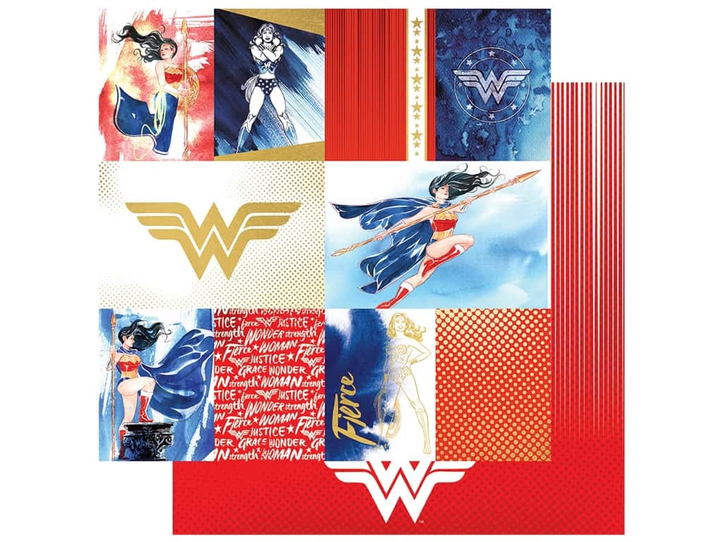 Paper House Paper 12 x 12 in. Wonder Woman (15 pieces)