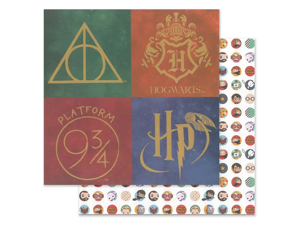 Paper House Paper 12 x 12 in. Warner Bros Harry Potter Icons (15 pieces)
