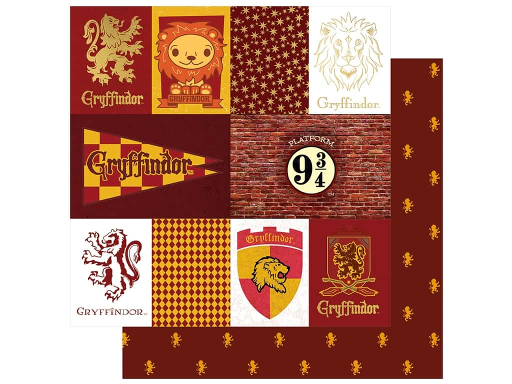 Paper House Paper 12 x 12 in. Warner Bros Harry Potter Gryffindor Tag (15 pieces)