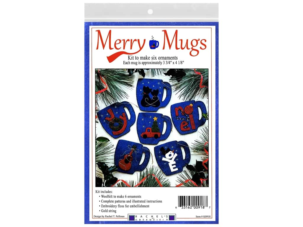 Rachel's Of Greenfield Kit Felt Merry Mugs