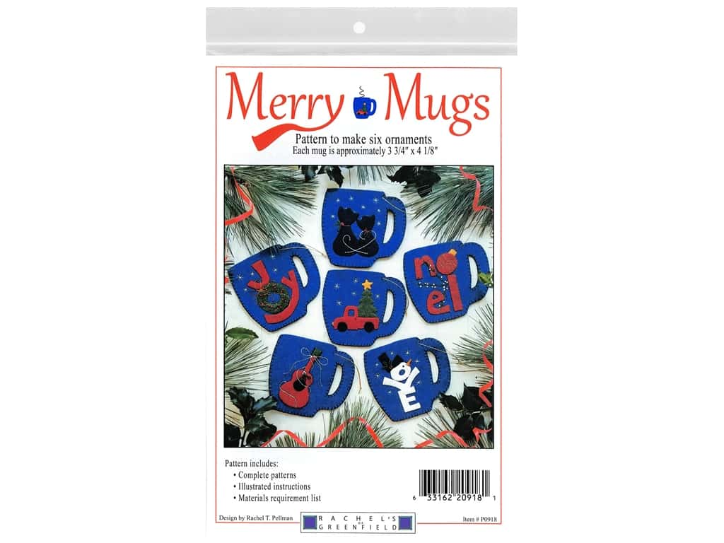 Rachel's Of Greenfield Merry Mugs Pattern