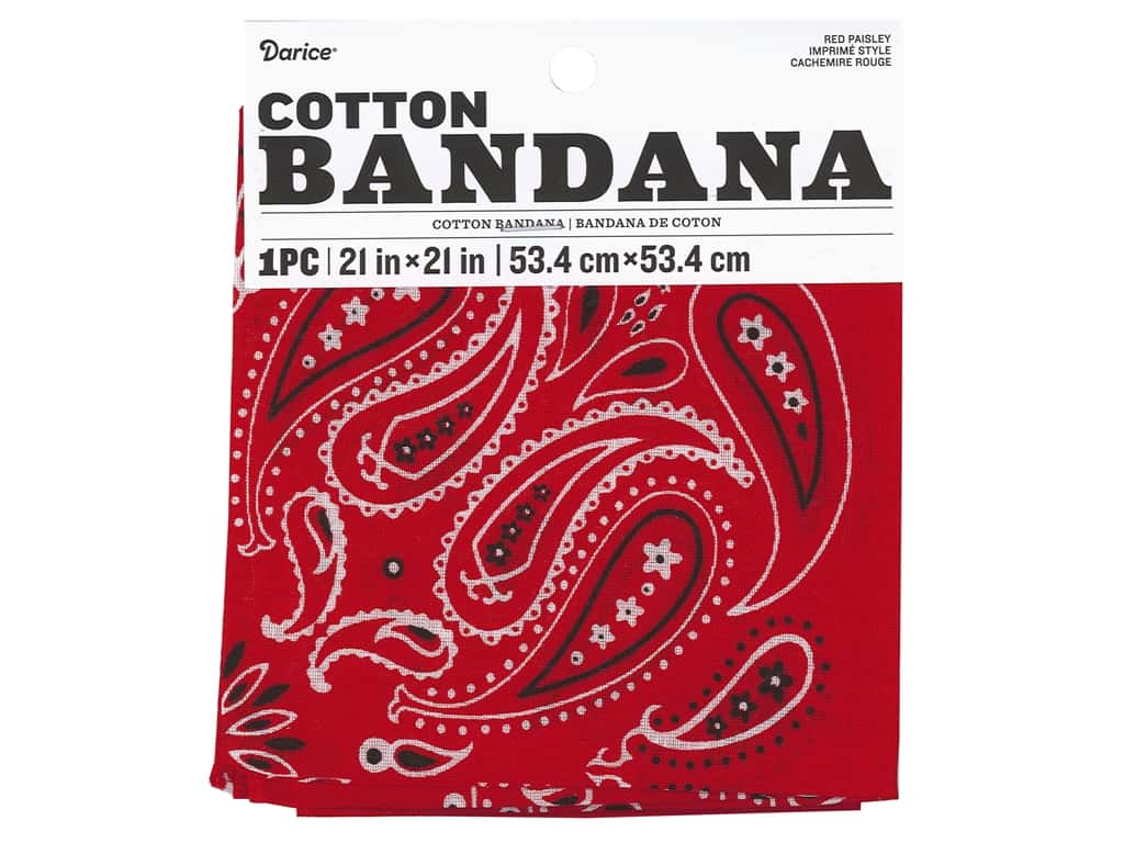 Darice Bandana 21 x 21 in. Paisley Red