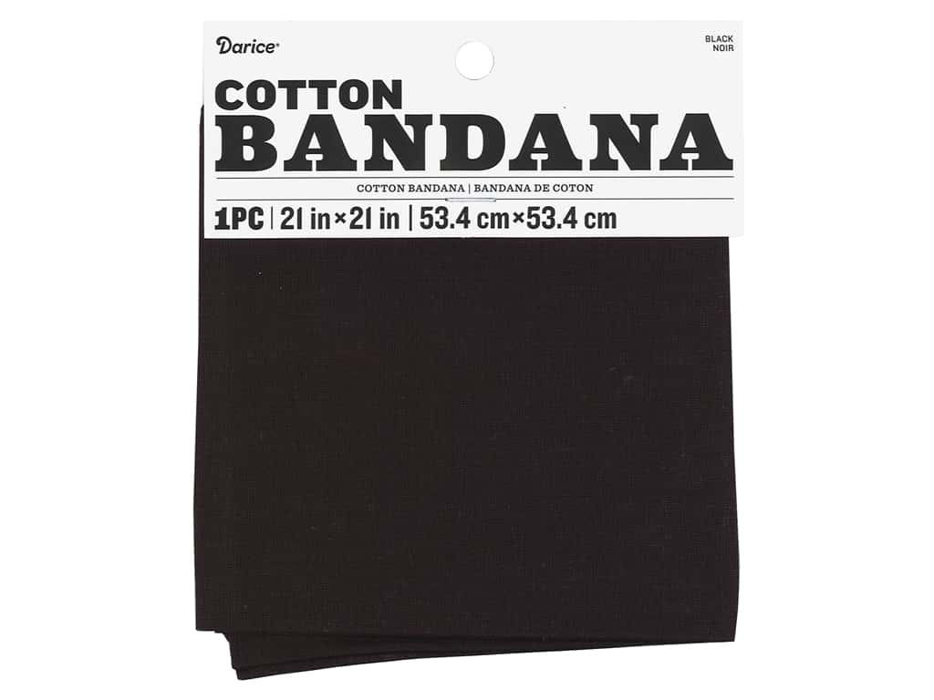 Darice Bandana 21 x 21 in. Black
