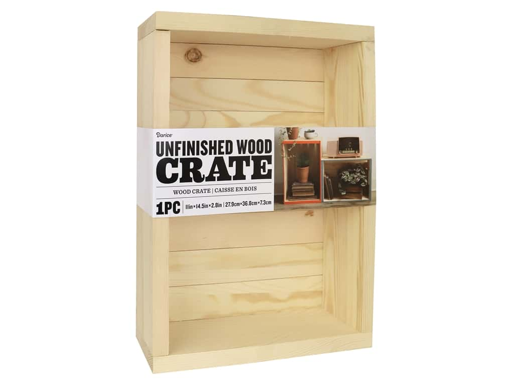 Darice Wood Unfinished Crate Slat 11 in. x 14.5 in.
