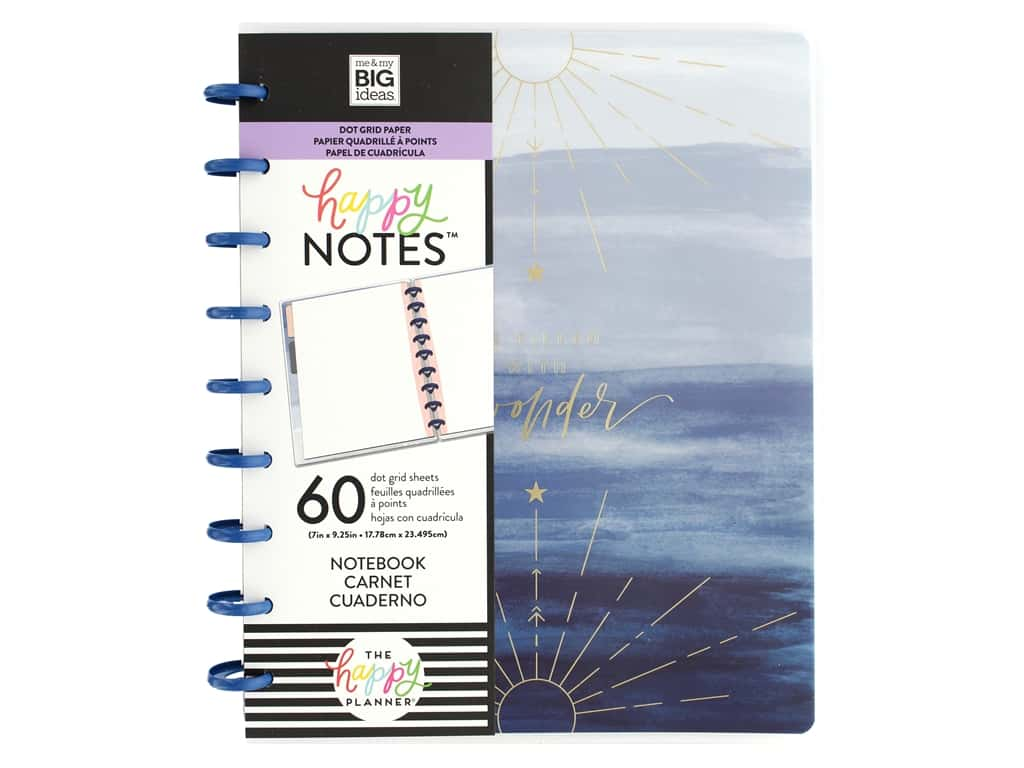 Me&My Big Ideas Happy Planner Notebook Classic Dot Grid Boho Wonder