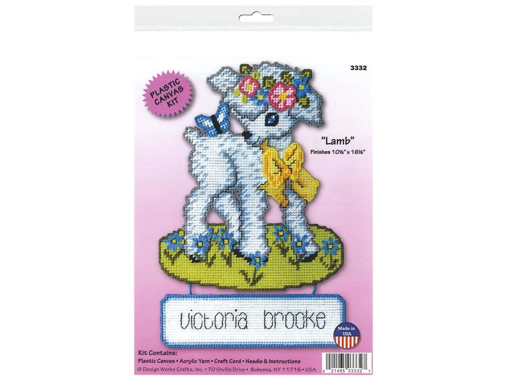 Design Works Kit Plastic Canvas Lamb