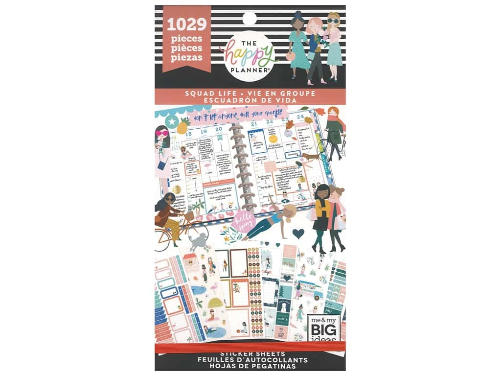 Me&My Big Ideas Happy Planner Sticker Value Pack Squad Life
