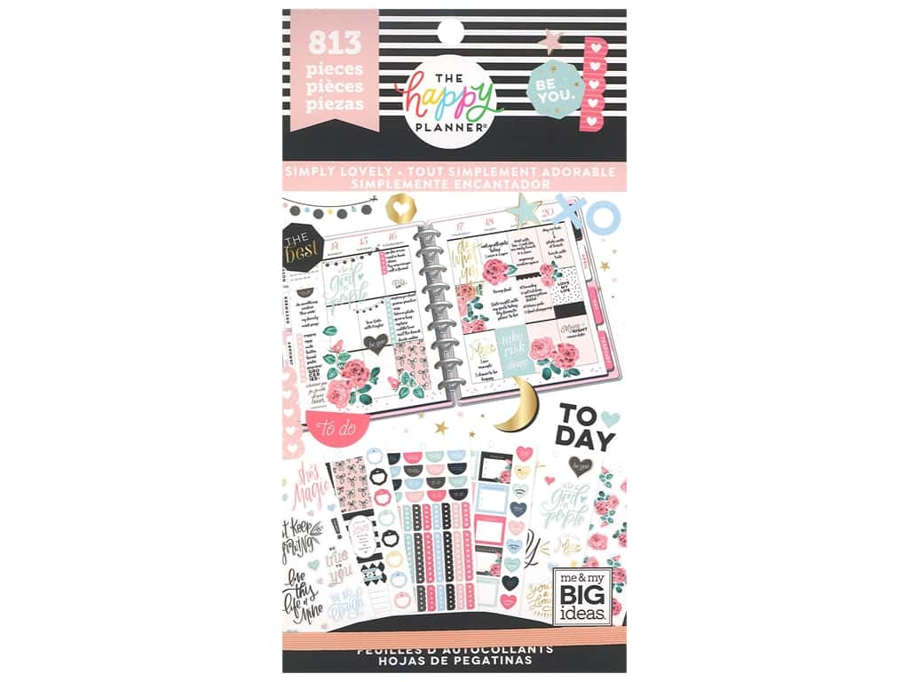 Me&My Big Ideas Happy Planner Sticker Value Pack Simply Lovely