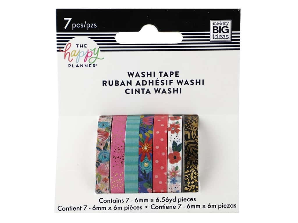 Me&My Big Ideas Happy Planner Washi Tape Floral