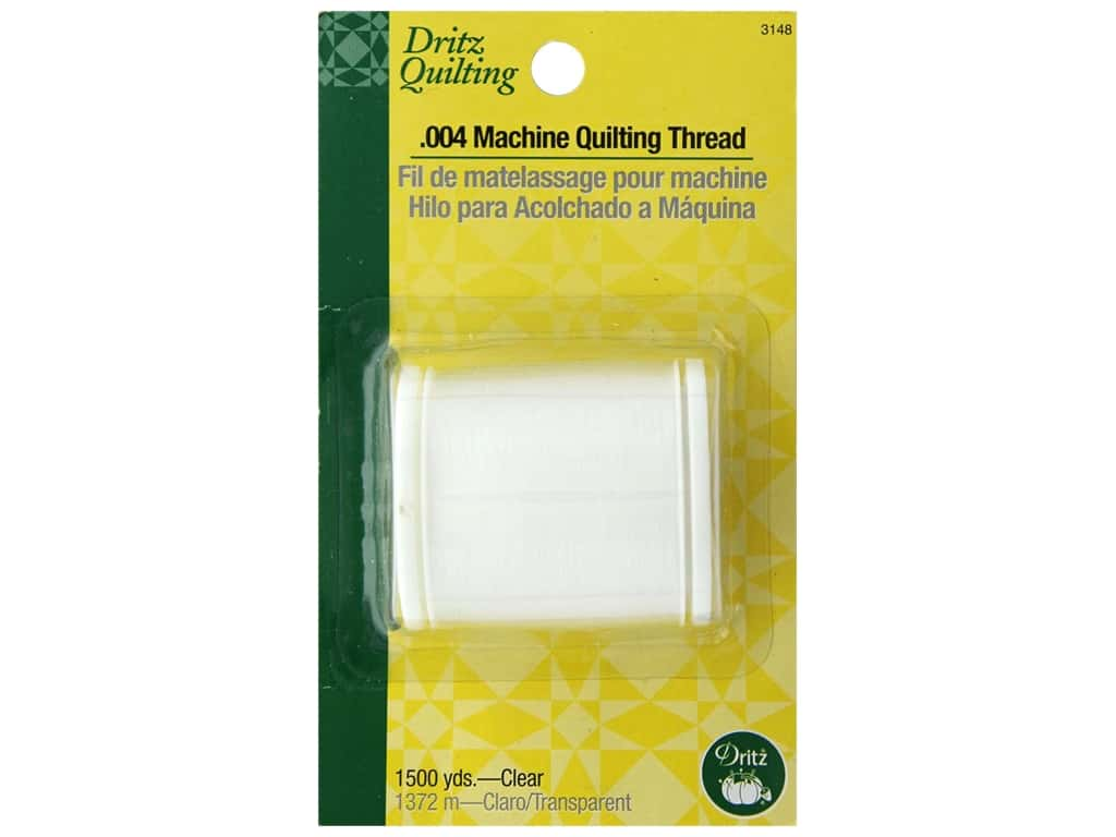 Dritz Invisible Thread .004 Machine Quilting Clear 1500 yd