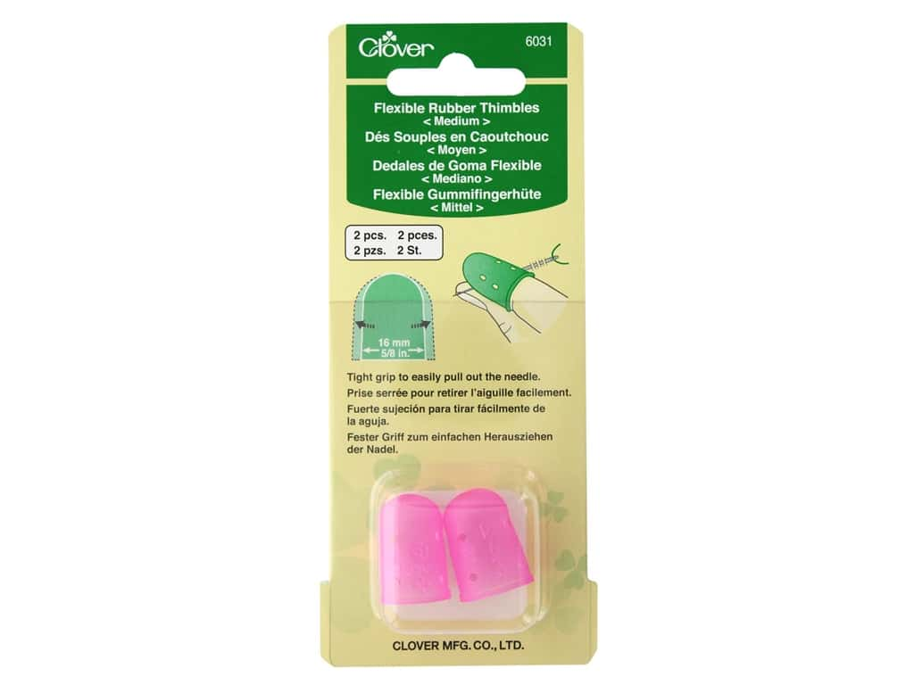Clover Thimble Flexible Rubber Medium