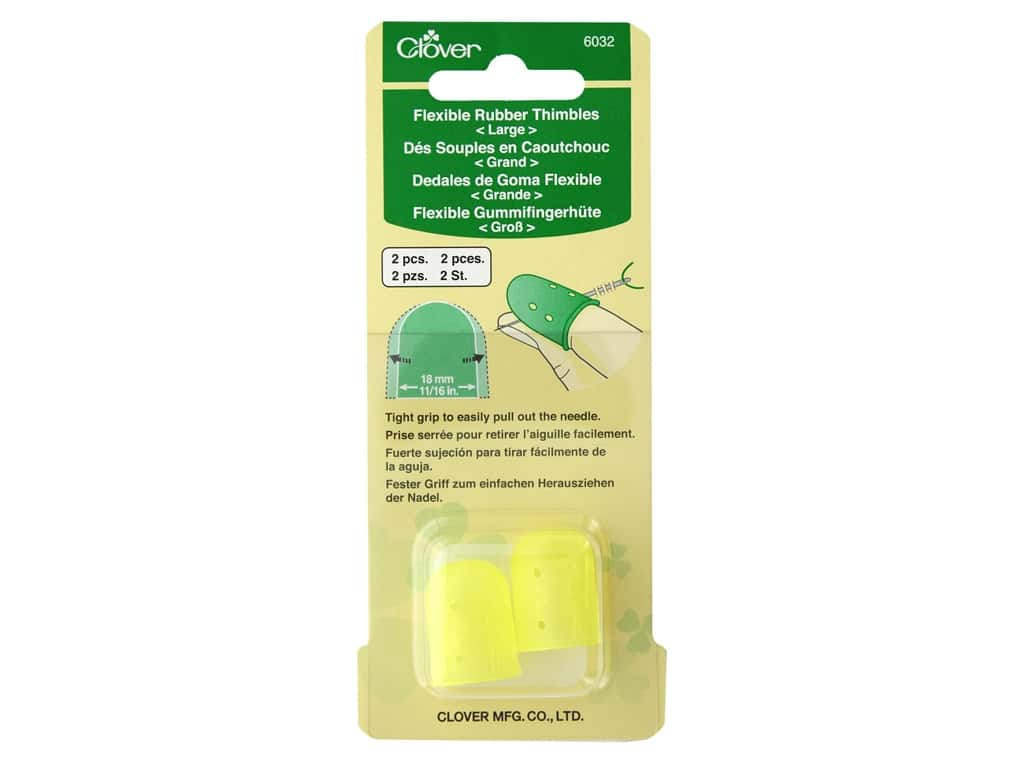 Clover Thimble Flexible Rubber Large