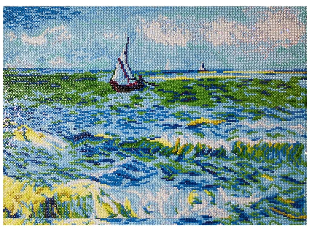 Diamond Dotz Advanced Kit - Seascape At Saint Maries (Van Gogh)