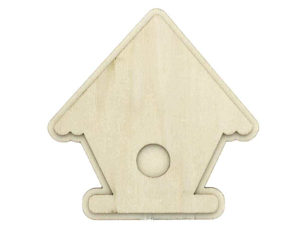 Plaid Wood Unfinished Shape Birdhouse