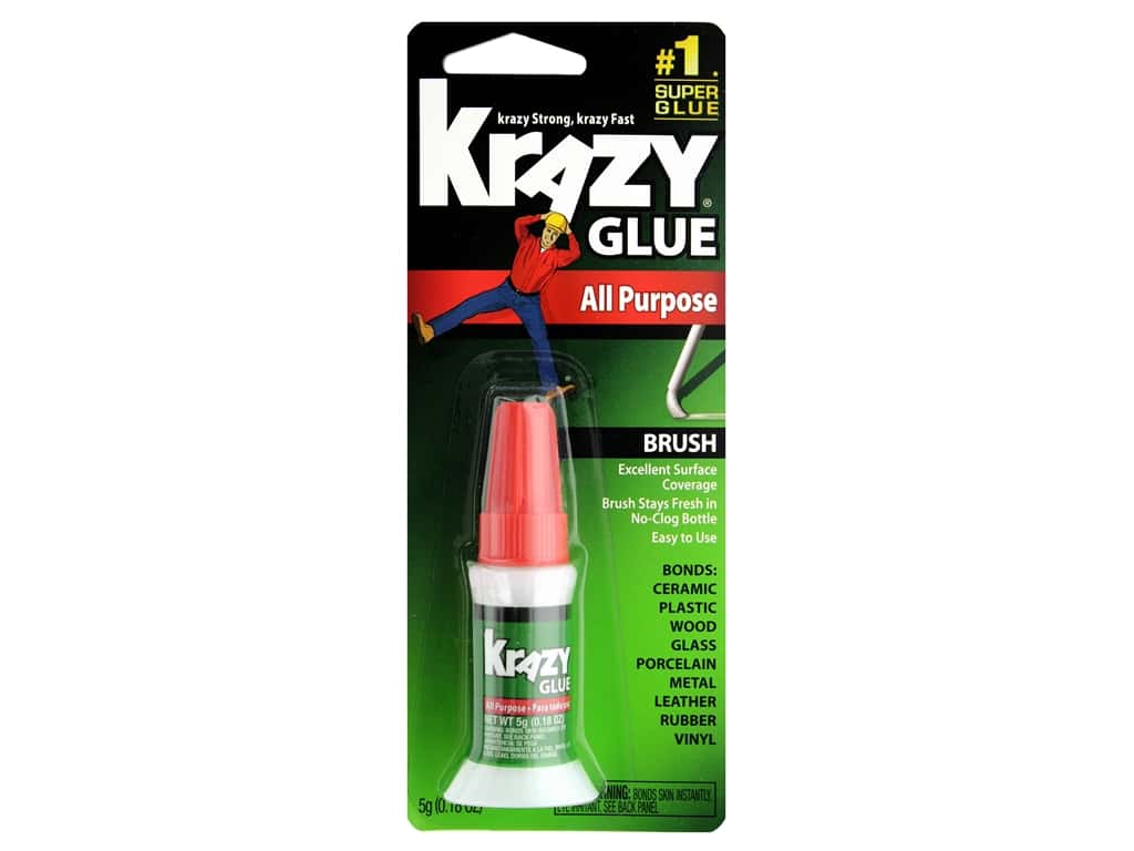 All Purpose Krazy Glue 5 gm. Brush-On