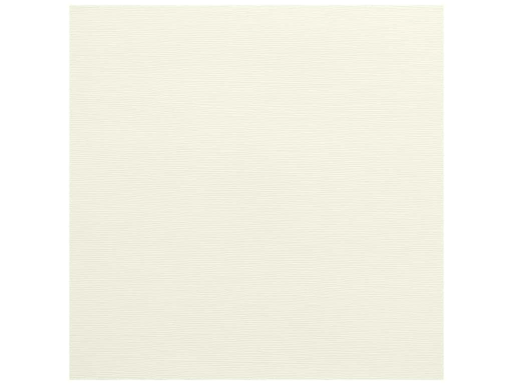 Bazzill Cardstock 12 x 12 in. Grasscloth French Vanilla (25 sheets)