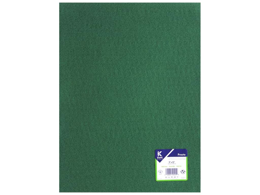 Kunin Presto Felt 9 x 12 in. Kelly Green