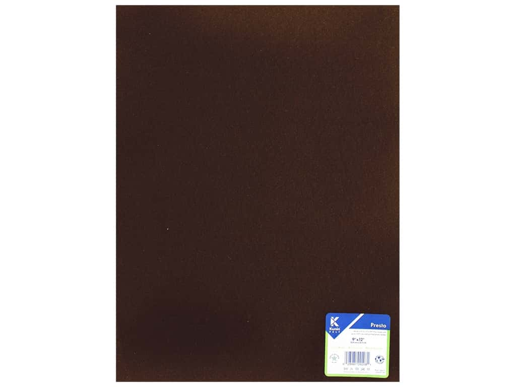 Kunin Presto Felt 9 x 12 in. Cocoa Brown