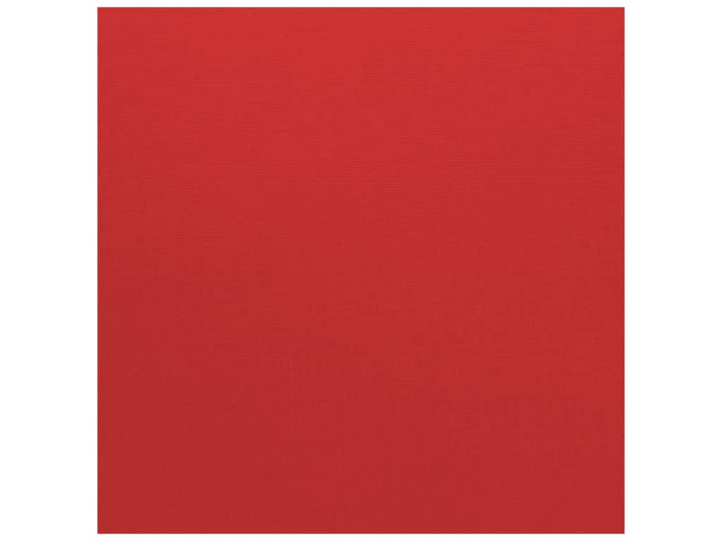 Bazzill Cardstock - 12 x 12 in. - Canvas Bazzill Red (25 sheets)