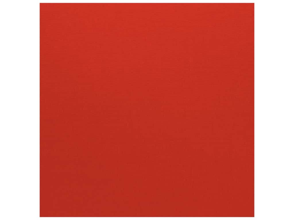 Bazzill Cardstock 12 x 12 in. Canvas Maraschino (25 sheets)