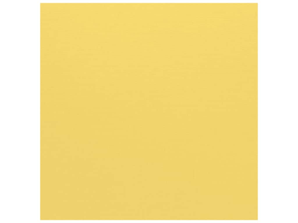 Bazzill Cardstock 12 x 12 in. Canvas Lemonade (25 sheets)