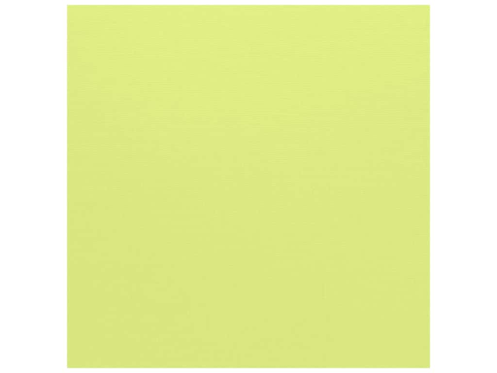 Bazzill Cardstock - 12 x 12 in. - Canvas Limeade (25 sheets)