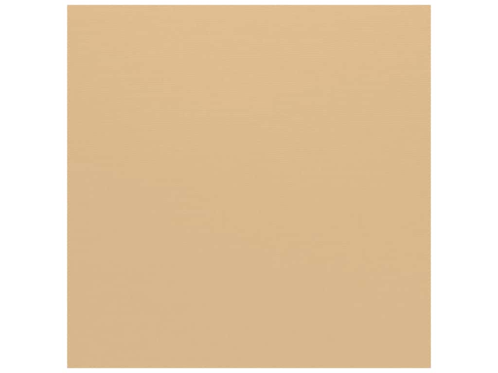 Bazzill Cardstock 12 x 12 in. Canvas Fawn (25 sheets)