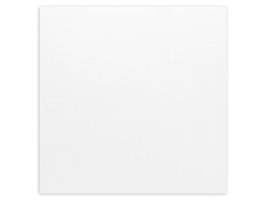 Bazzill Cardstock 12 x 12 in. Canvas White (25 sheets)