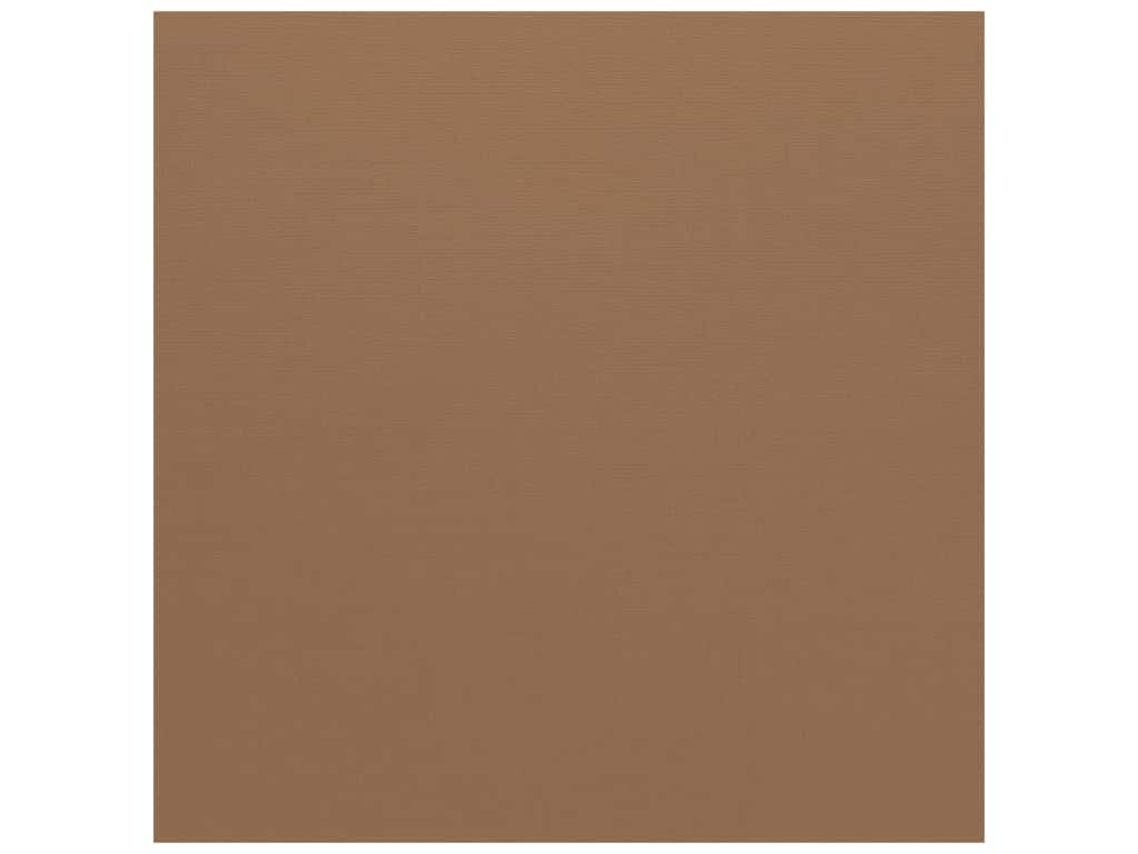 Bazzill Cardstock 12 x 12 in. Canvas Walnut (25 sheets)