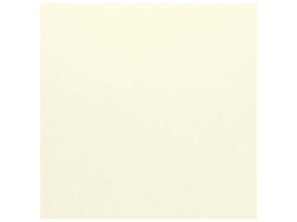 Bazzill Cardstock 12 x 12 in. Criss Cross Cream Puff (25 sheets)