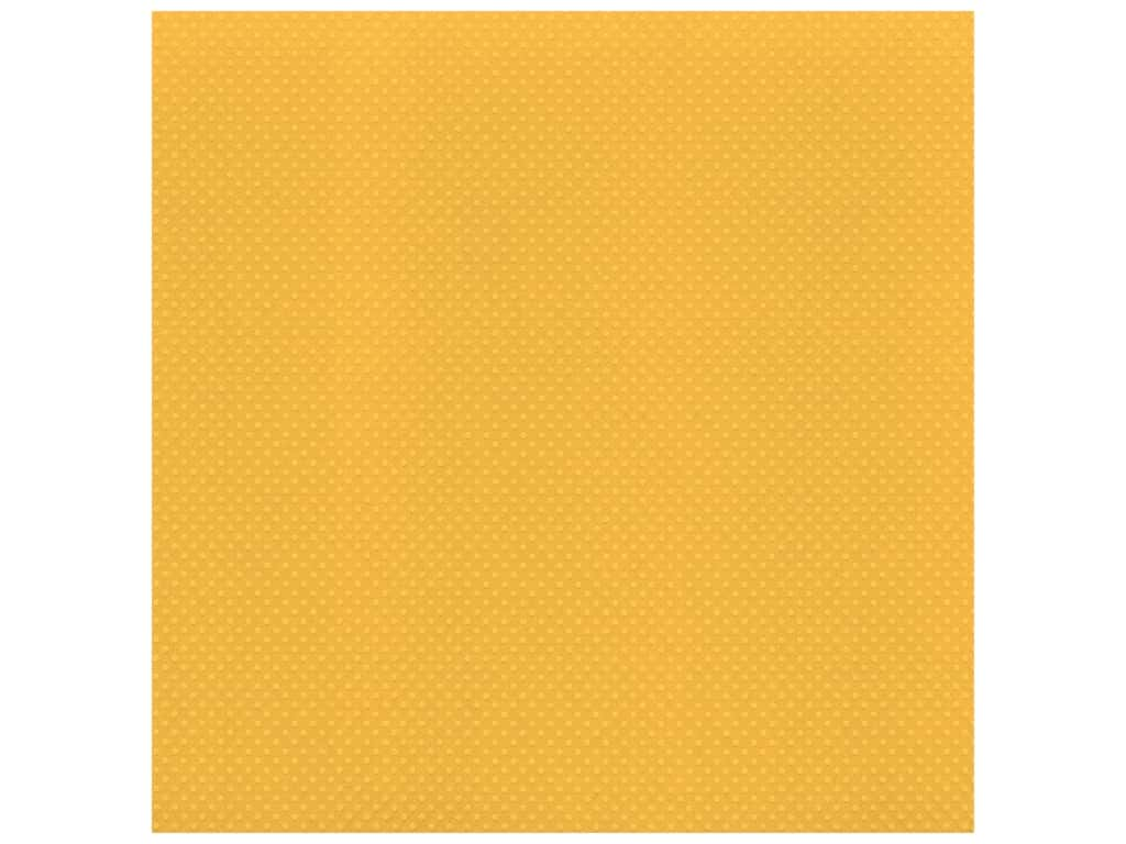 Bazzill Cardstock 12 x 12 in. Dotted Swiss Honey (25 sheets)