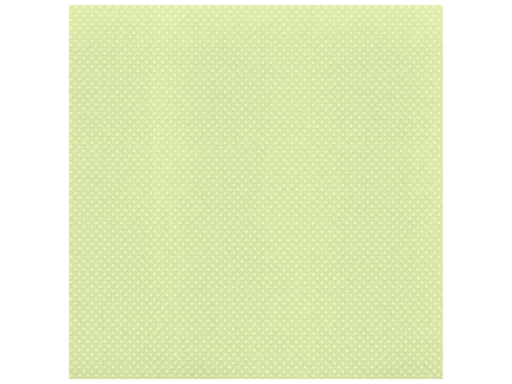 Bazzill Cardstock 12 x 12 in. Dotted Swiss Celtic Green (25 sheets)