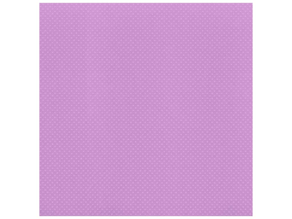 Bazzill Cardstock 12 x 12 in. Dotted Swiss Berry Pretty (25 sheets)