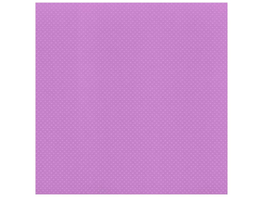 Bazzill Cardstock 12 x 12 in. Dotted Swiss Grape Jelly (25 sheets)