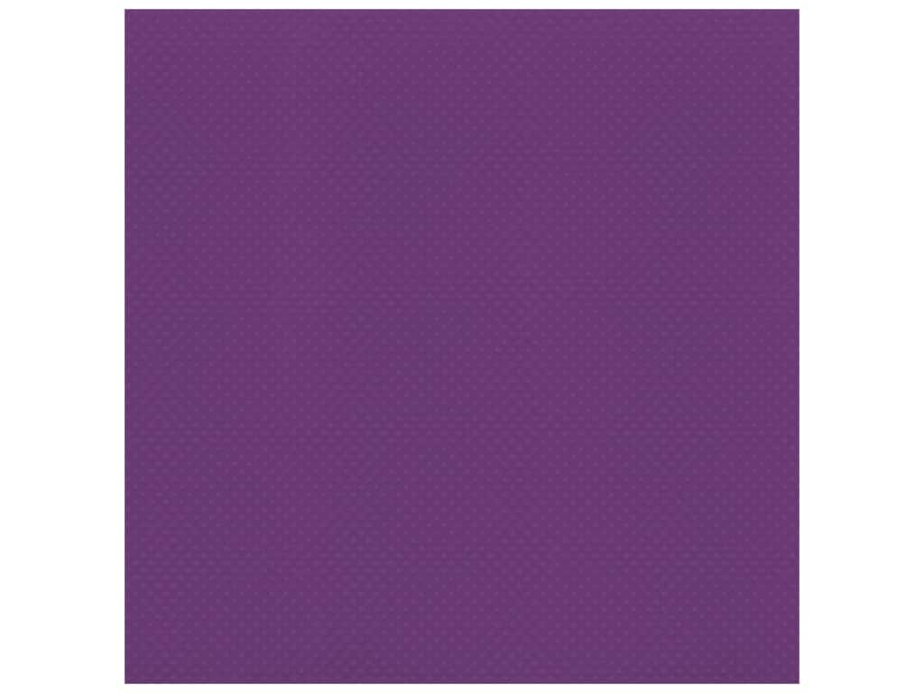 Bazzill Cardstock 12 x 12 in. Dotted Swiss Plum Pudding (25 sheets)
