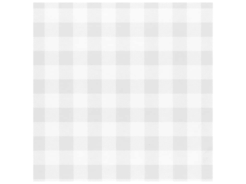 Bazzill Cardstock 12 x 12 in. Plaid Marshmallow (25 pieces)