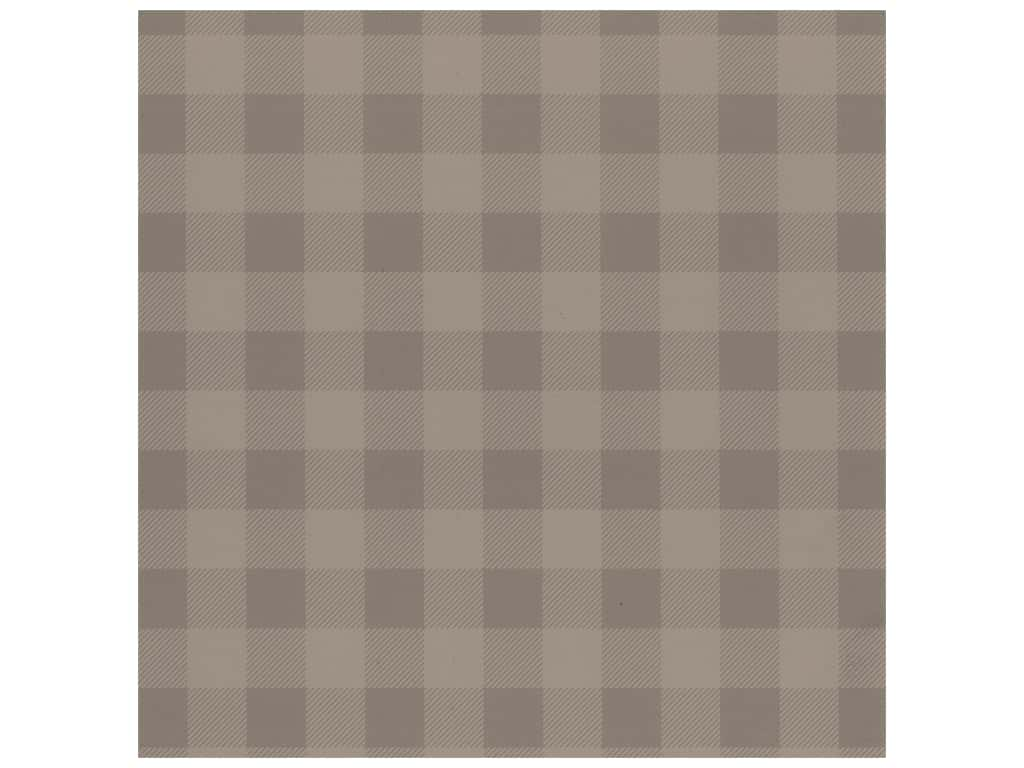 Bazzill Cardstock 12 x 12 in. Plaid Sugar Wafer (25 pieces)
